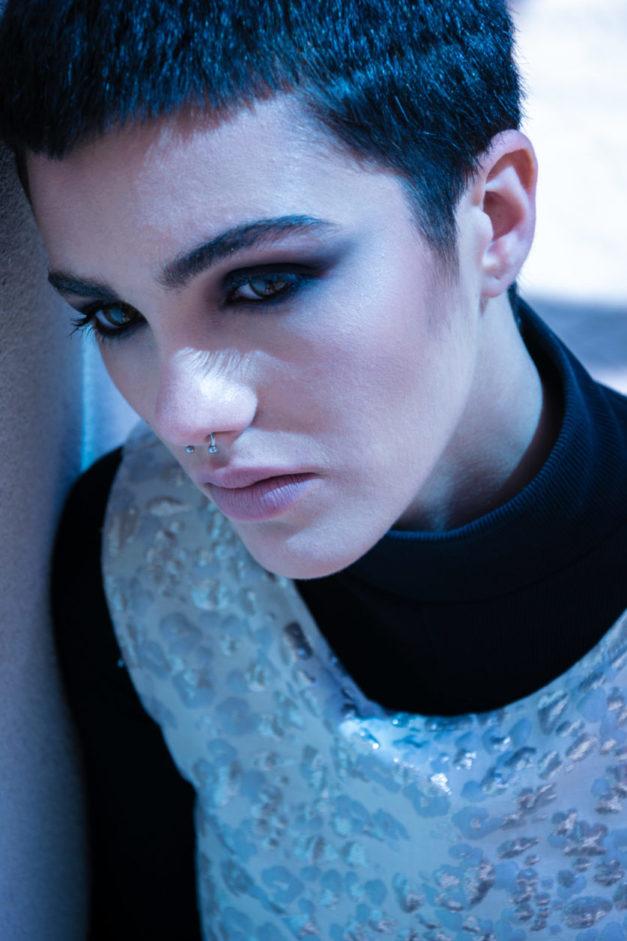 Fashion Photo Editorial - Barolo Fashion Show Borgogno Winery - Aurora Castella Model