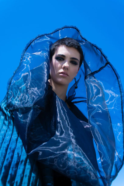 Fashion Photo Editorial in blue in Barolo