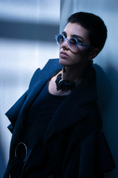 Fashion Editorial Blue Winehouse in Barolo, Langhe