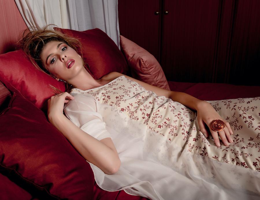 Editoriale fotografico moda in Venezia Barolo Fashion Show Giulia Samaia Model